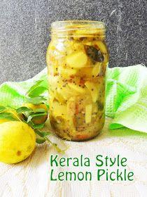 Cooking Is Easy: Lemon Pickle/Vella Naranga Achar (Kerala Style) Lemon Pickle Recipe, Indian Pickle Recipe, Kerala Recipes, Indian Food Recipes, Indian Foods, Indian Snacks, Crispy Pickles Recipe, Lime Pickles, Pickled Garlic