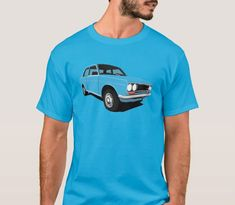 Great Datsun 1600 or 510 from was popular family car all around the world. Get this retro car illustration printed in T-shirts and other items. Retro Cars, Vintage Cars, Datsun 1600, Car Illustration, Japanese Cars, Classic Cars, Automobile, Light Blue, Mens Tops