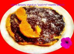 """Συνταγές για διαβητικούς και δίαιτα: ΚΡΕΠΕΣ ΒΡΩΜΗΣ ΜΕ """"ΜΕΡΕΝΤΑ""""-ΦΡΟΥΤΟ-ΚΑΡΥΔΑ French Toast, Breakfast, Food, Morning Coffee, Essen, Meals, Yemek, Eten"""