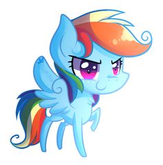 Chibi Rainbow Dash by Left2Fail.deviantart.com on @DeviantArt