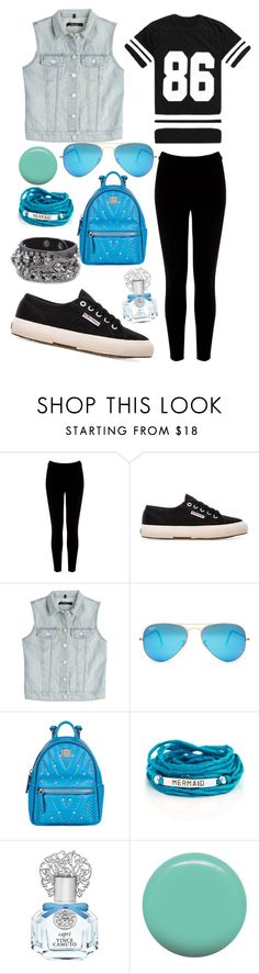 """Outfit #424"" by sofi6277 on Polyvore featuring moda, Warehouse, Superga, J Brand, Ray-Ban, MCM, Blooming Lotus Jewelry, Vince Camuto y Jin Soon"