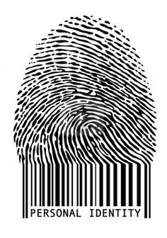 Barcode fingerprint - What ideas about identity does this image raise? Consider writing a paragraph or two using this image as your stimulus.