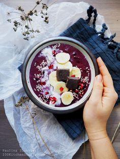 4- ingredient Vegan Raw Acai Smoothie Bowl | 100 KITCHEN STORIES