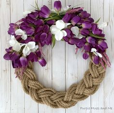 Growing Sweet Peas, Easter Garland, Diy Chalkboard, Wreath Forms, Holiday Wreaths, Spring Wreaths For Front Door Diy, How To Make Wreaths, Holiday Decor, Craft Projects
