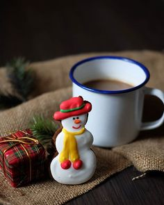 Hello Mr. Snowman, how are you today☃  #coffee_cup_series  #coffeagraphy