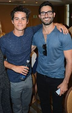 Dylan and Tyler in the press room at SDCC'14