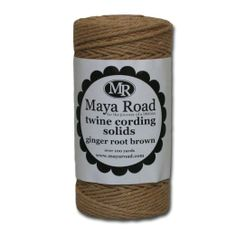 Amazon.com: Maya Road TC2520 Solid Baker's Twine Cording for Crafting, Ginger Root Brown: Arts, Crafts & Sewing 100+ yards $10.61
