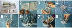 Éco-vannerie : un vide-poche en papier journal - Kaizen Diy And Crafts, Paper Crafts, Kaizen, Vide Poche, Discipline, Recherche Google, Blog, Scrapbook, Link