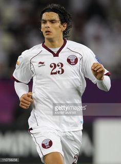Qatar's forward Sebastian Soria runs during the 2011 Asian Cup group A football match between China and Qatar at Khalifa Stadium in the Qatari...
