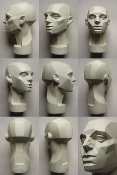 planes of the head via http://animationtidbits.tumblr.com/