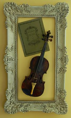 Frame The Violin On Wall Love