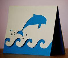 Dolphin Card cm border punch