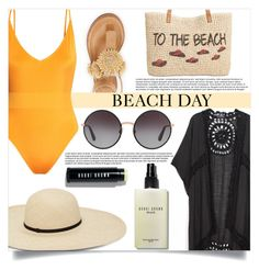 """Beach Day"" by mistressofdarkness ❤ liked on Polyvore featuring H&M, Do Everything In Love, Style & Co., Bobbi Brown Cosmetics, Bettye and Dolce&Gabbana"