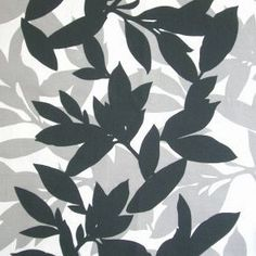 Willow Leaves/Graphite. | SALE Fabrics & Homewares | Fabrics | Retro Home Fabrics
