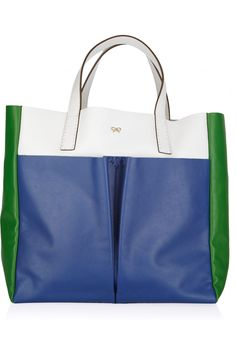 ANYA HINDMARCH  Nevis color-block leather tote