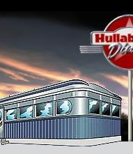 Hullabaloo Diner, just down from my house & featured on Diners, Drive-ins & Dives - my talented uncle (Jack's Sax) is performing there now