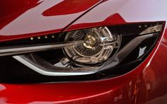 The headlight of the Mazda #Takeri concept car demonstrating our new #KODO design direction. #Mazda6