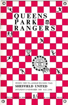 Vintage Football (soccer) Programme - Queens Park Rangers v Sheffield United, 1969/70 season #football #soccer #qpr