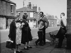 © Shirley Baker Scene on a Street Corner - Bolton, Lancashire Bolton Lancashire, Preston Lancashire, Bw Photography, Street Photography, Social Photography, Vintage Photographs, Vintage Photos, Shirley Baker, Historical Images