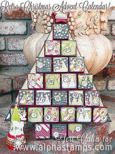 Alpha Stamps News » Retro Christmas Advent Calendar Tutorial