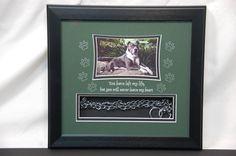 11 x 12 Dog Memorial Shadow box with collar Pet Memorial Frames, Dog Memorial, Pet Memorials, Losing A Pet, Shadow Box, Your Pet, Memories, Crafty, Pets