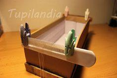 Homemade Beading loom, so cool.