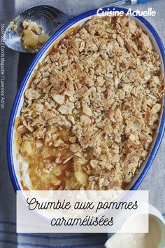 Découvrez vite cette recette. Four, Cereal, Caramel, Oatmeal, Breakfast, Gourmet Desserts, Cooking Recipes, Sticky Toffee, The Oatmeal