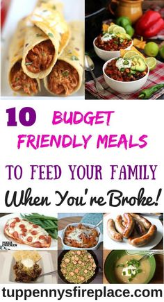 Tasty super cheap and easy meals that won't break your budget. Crock pot and 3 i… Tasty super cheap and easy meals that won't break your budget. Crock pot and 3 ingredient recipes along with vegetarian and low carb. Low Budget Meals, Cooking On A Budget, Frugal Meals, Frugal Tips, Frugal Recipes, Cheap Recipes, Freezer Meals, Easy Budget, Cooking Wine