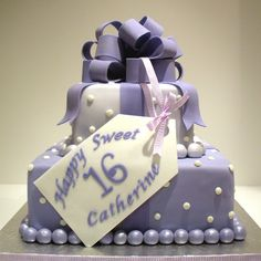 sweet 16 cakes for girls | This cake is a replica of a similar cake we have done. The bow and ...