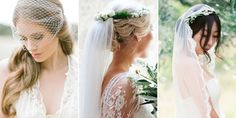 Gorgeous wedding veils for the most romantic day of your life.