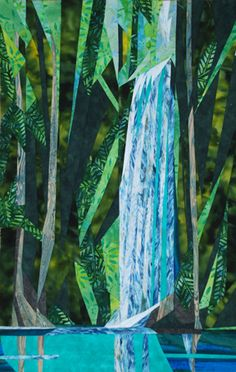 silver linings quilting pattern rainforest waterfall