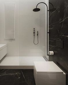 another simple black and white bathroom