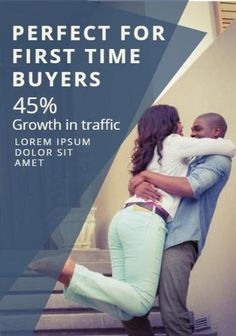 Happy couple poster traffic growth blue for first time buyers flyer template Flyer Template, Lorem Ipsum, First Time, Couple, Templates, Memes, Happy, Poster, Blue
