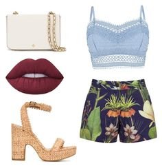 """""""Untitled #2"""" by raethornton on Polyvore featuring Tabitha Simmons, Lipsy, Penfield, Tory Burch and Lime Crime"""