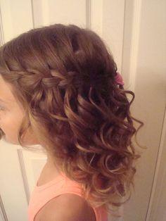 flower girl hair braid - Google Search