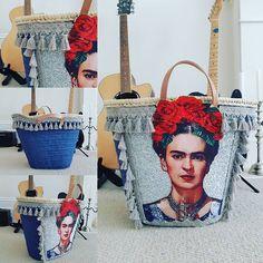 My new Frida basket is finally ready to rock and roll! So happy with it. Time to kick back relax and do absolutely ... NOTHING for the rest of the day. . . . . #fridakahlo #basket #fridabag #strawbag #marketbasket #bag #beachnag #strandtasche #tasche #ibizastyle #ibizabag #strawbasket #borsespiaggia #borse #strandtasche #strandkorb #capazo #panier #panierplage #rockstar #homedecor #boho #bohofashion #gipsy #bohemian #trendy #handmade #etsyuk #etsysuccess #etsy