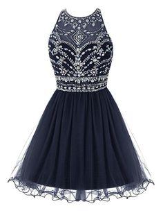 Navy Homecoming Dress,Short Prom Dress,Graduation Party Dresses, Homecoming Dresses For Teens