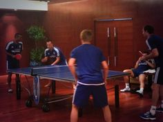 gigi_salmon Gigi Salmon 6h JT & @TheRealAC3 taking on Petr Cech & Tomas Kalas at table tennis #CFCTour