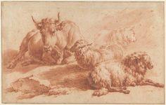 Adriaen van de Velde, A lying cow and three sheep, 1671. Amsterdam Museum, Bequest CJ Fodor.