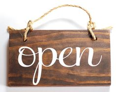 Open Closed Store Sign Wood Double Sided / by OkieHeartStudio