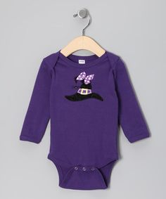 Take a look at this Purple Witch Hat Bodysuit - Infant by Petunia Petals on #zulily today!