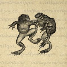 Frogs Digital Graphic Image Frog Printable by VintageRetroAntique