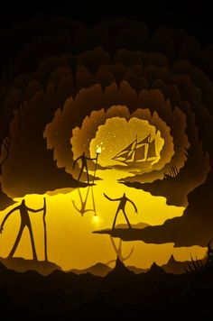 Hari & Deepti, Journey to the Center of the Earth - Paper Cuts at Spoke Art