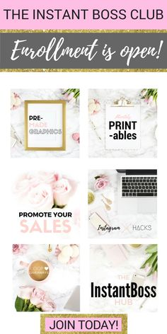 Join the Instant Boss Club, where you learn how to make money through Instagram.  Get free printables, accountability partners, and access to loop giveaways to take your Instagram account to the next level! (affiliate link)