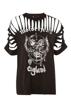 dc316f37b35aad Motorhead Eyelet Slash T-Shirt by And Finally - Clothing