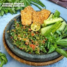 Resep Sambal Pencok Kacang Panjang by Indonesian Sambal Recipe, Indonesian Cuisine, Indonesian Recipes, Asian Recipes, Healthy Recipes, Ethnic Recipes, Food N, Food And Drink, Diy Food