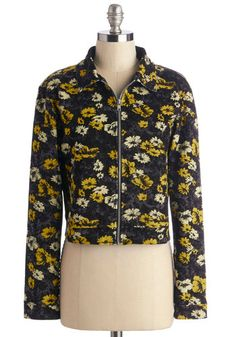 I Wanna Be Adorned Jacket. Rockin out a concert tonight? #gold #prom #modcloth