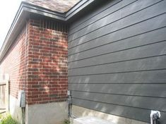 Red Home Accents Exterior Paint - 64 Exterior Paint Colors With Brown Brick... #RedHome #AccentsExteriorPaint