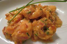 Scampi Diabolique - Lien Life is good ! I Want Food, Love Food, Dutch Recipes, Cooking Recipes, Tapas Recipes, Shrimp Recipes, Recipies, Scampi Recipe, Healthy Summer Recipes