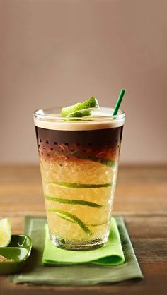 Iced coffee just got a delicious upgrade thanks to this recipe for Caipirinha Coffee from Nespresso. Cafe Menu, Coffee Drink Recipes, Tea Recipes, Frozen Coffee Drinks, Coffe Drinks, In Vino Veritas, Coffee Roasting, Refreshing Drinks, Coffee Beans